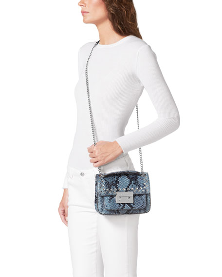Small Sloan Jeweled Shoulder Flap Bag