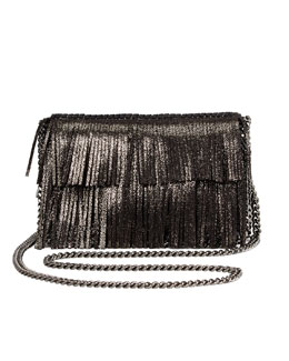 Stella McCartney Falabella Fringe Crossbody Bag, Ruthenium