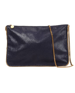 Stella McCartney Mini Chain Shoulder Bag, Navy