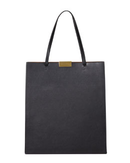Stella McCartney Faux-Napa Tote Bag, Black