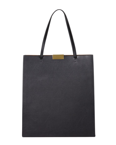 Faux-Napa Tote Bag, Black
