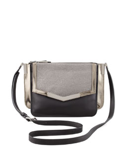 Time's Arrow Lamanto Mini Trilogy Leather Crossbody Bag