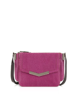 Time's Arrow Mini Trilogy Serpent-Print Crossbody Bag, Magenta