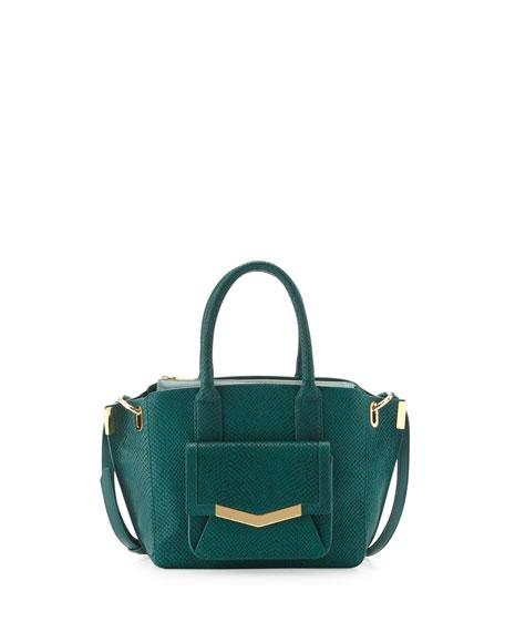 Mini Jo Serpent-Print Tote Bag, Emerald