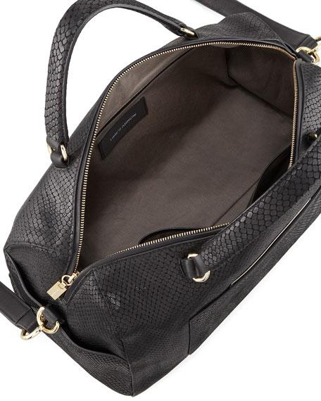 Julian Serpent-Print Duffel Bag, Black