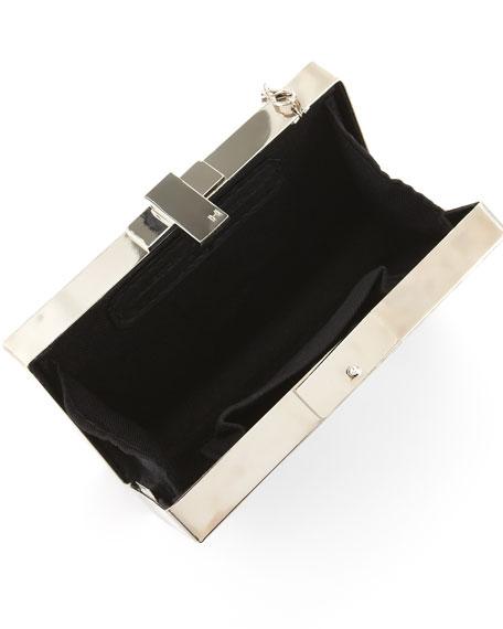 Metal-Frame Box Minaudiere