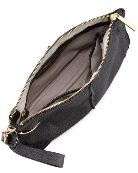 Large leather clutch bag : Halston heritage large leather wristlet clutch bag black