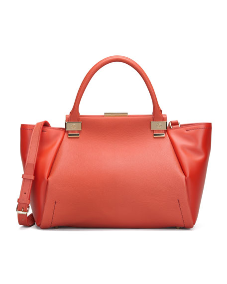 Trilogy Leather Tote Bag, Red