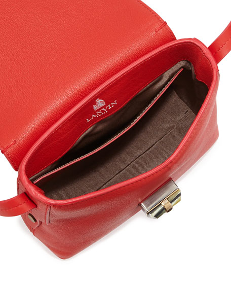Edgy Happy Crossbody Bag, Red