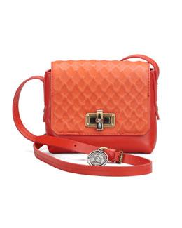 Lanvin Edgy Happy Crossbody Bag, Red