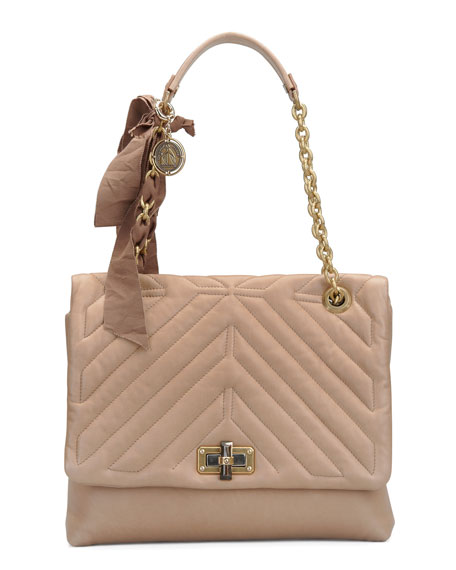 Classic Happy Shoulder Bag, Beige