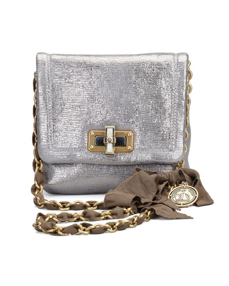 Classic Happy Crossbody Bag, Pale Gold