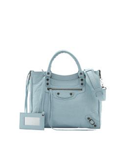 Balenciaga Classic Velo Bag, Blue Dragee