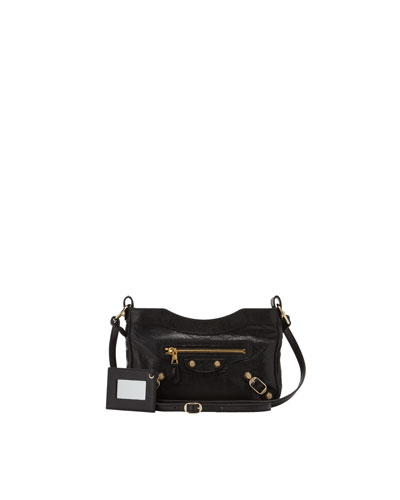 Balenciaga Giant 12 Golden Hip Crossbody Bag, Black