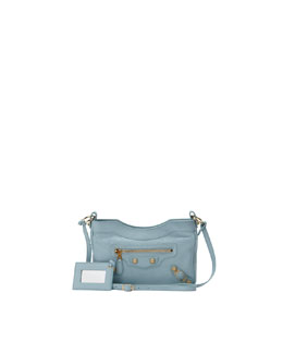 Balenciaga Giant 12 Golden Hip Crossbody Bag, Blue Dragee