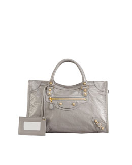 Balenciaga Giant 12 Golden City Bag, Pirate Gray
