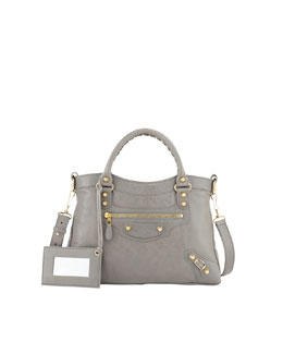 Balenciaga Giant 12 Golden Town Bag, Medium Gray