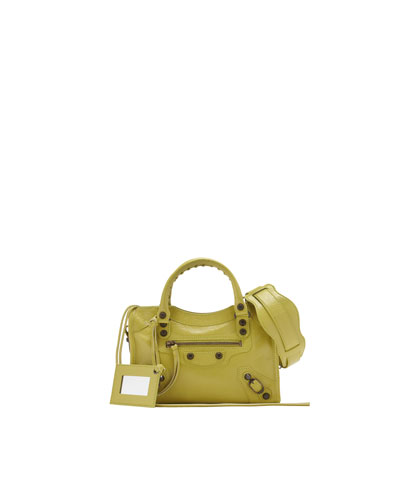 Balenciaga Classic Mini City Bag, Jaune Poussin