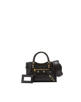 Balenciaga Giant 12 Golden City Mini Bag, Black
