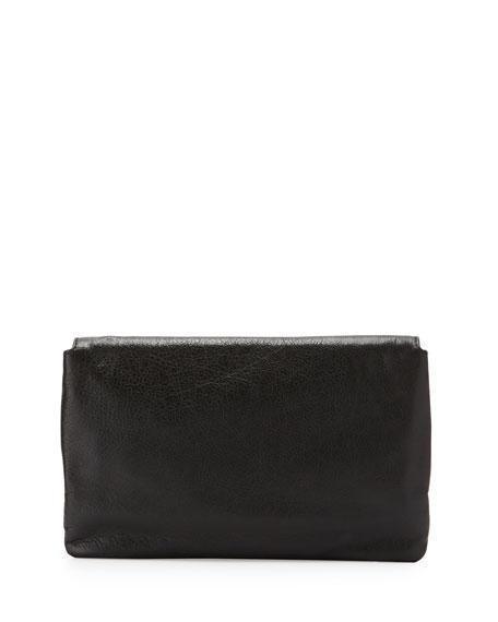 Giant 12 Golden Envelope Clutch Bag, Black