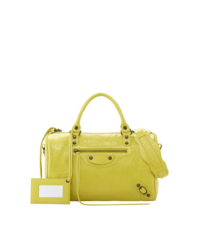 Balenciaga Classic Boston Bag, Jaune Poussin