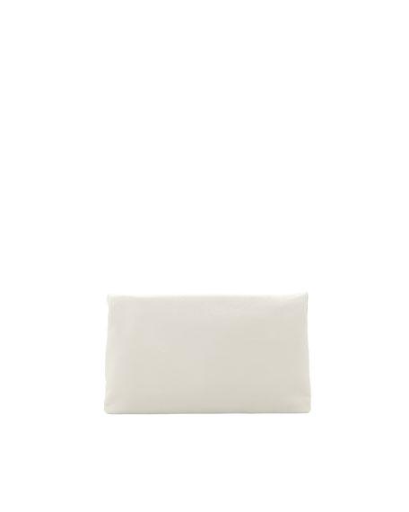 Metallic Edge Classic Envelope Clutch Bag, Light Gray