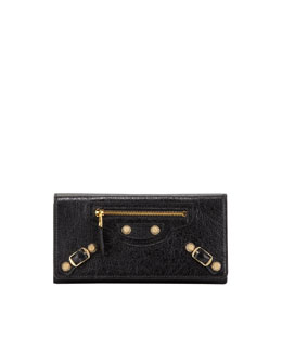 Balenciaga Giant Golden Money Wallet, Black