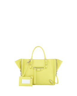 Balenciaga Papier A4 Mini Magnet Tote Bag, Yellow
