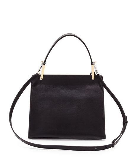 Le Dix Cartable Flap Satchel Bag, Black