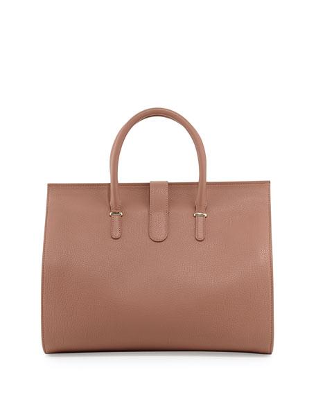 Tube-Clasp Tote Bag, Tomette