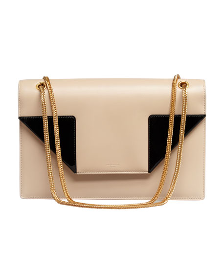 Betty Medium Chain Bag, Beige/Black