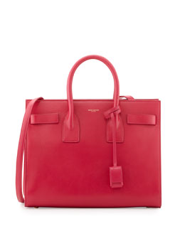 Saint Laurent Sac de Jour Small Carryall Bag, Fuchsia