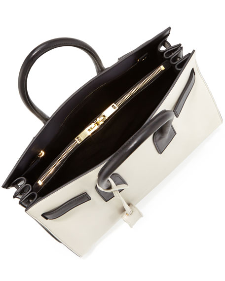 Sac de Jour Carryall Bag, White/Black