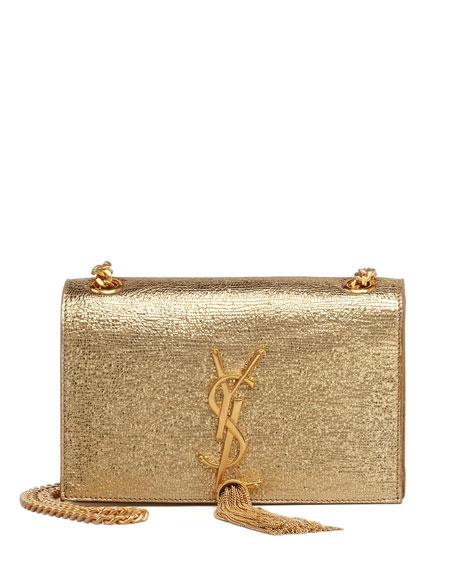 Cassandre Small Tassel Crossbody Bag, Gold