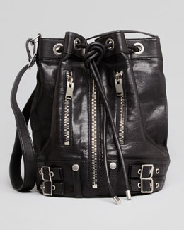 Saint Laurent Rider Bucket Bag, Black