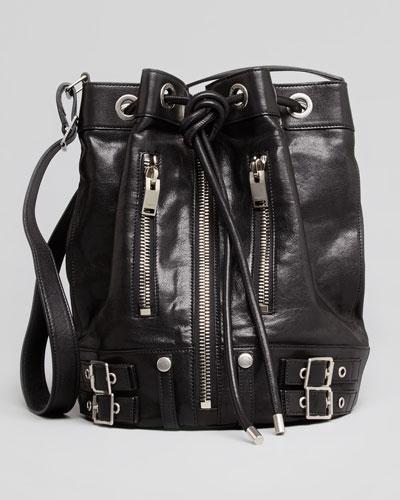 Saint Laurent Rider Bucket Bag, Black