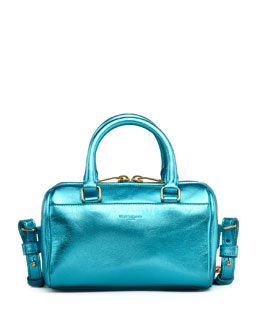 Saint Laurent Metallic Duffel Toy Saint Laurent Bag, Blue