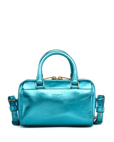 Saint Laurent Metallic Duffel Toy Saint Laurent Bag, Blue