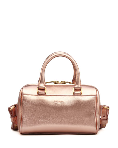 Metallic Duffel Toy Saint Laurent Bag, Rose Gold