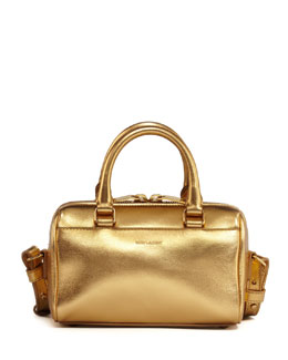Saint Laurent Metallic Duffel Toy Saint Laurent Bag, Gold