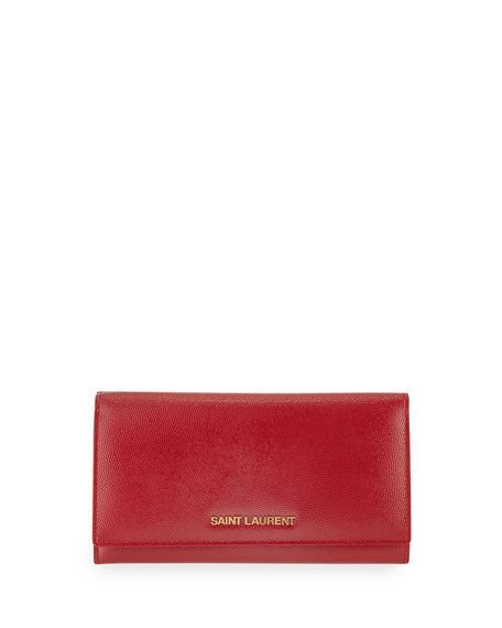 Letters Continental Flap Wallet, Red