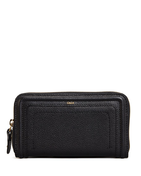 Paraty Long Zip Wallet, Black