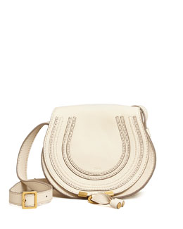 Chloe Marcie Small Crossbody Satchel Bag, White