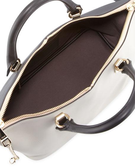 Baylee Medium Shoulder Bag, Black/Gray