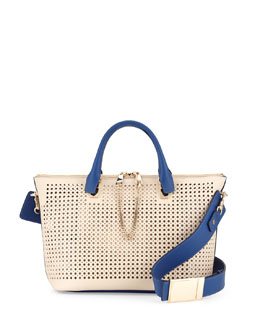 Chloe Baylee Perforated Bag, White
