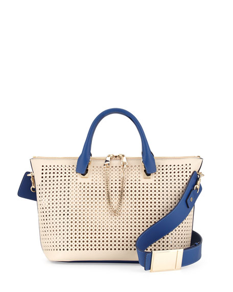Baylee Perforated Bag, White
