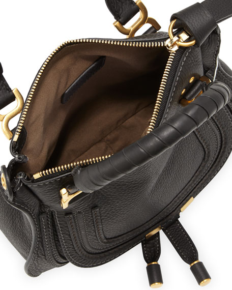 Marcie Crossbody Mini Shoulder Bag, Black