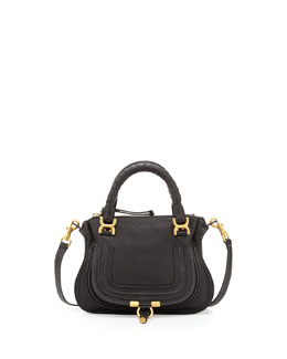 Chloe Marcie Crossbody Mini Shoulder Bag, Black