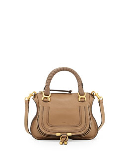 Chloe Marcie Mini Shoulder Bag, Nut