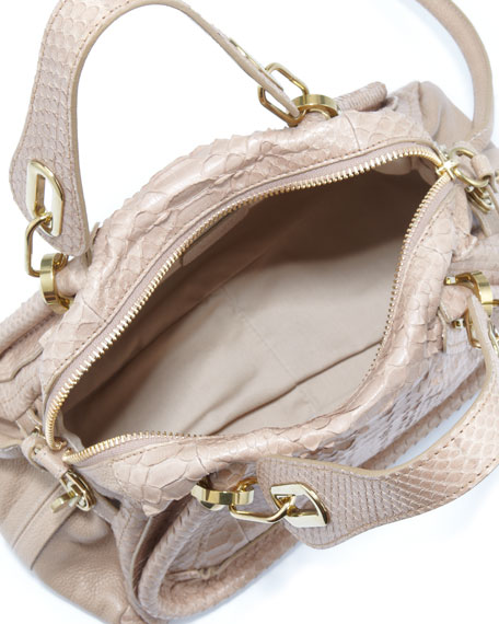 Paraty Python Shoulder Bag, Sand